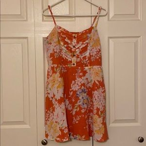 Orange Flower Spring Dress